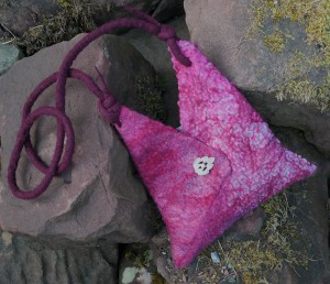 Merino wool and polyester fabric Origami bag